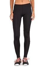 Diagonal Mesh Insert Legging in Black