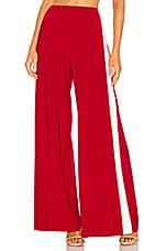 Norma Kamali x REVOLVE Side Stripe Elephant Pant in Red & Ivory