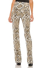Norma Kamali Boot Pant in Scale Python