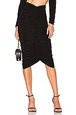 Norma Kamali x REVOLVE Shirred Skirt in Black