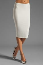 Modern Vintage Jersey Pencil Skirt in White