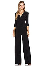 Shirred Waist Jumpsuit in Black