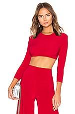 Norma Kamali x REVOLVE Bracelet Sleeve Crop Top in Red