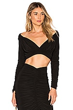 Norma Kamali x REVOLVE Tara Crop Top in Black