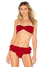 Norma Kamali Johnny D Bikini Top in Red