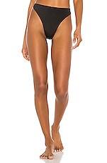 Norma Kamali Luca Bikini Bottom in Black