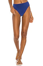 Norma Kamali Underwire Bikini Bottom in Berry Blue