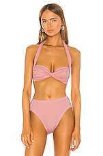 Norma Kamali Bill Bikini Top in Bubblegum Pink
