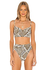 Norma Kamali Underwire Bikini Top in Scale Python