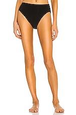 Norma Kamali X REVOLVE High Waist Bikini Bottom in Black