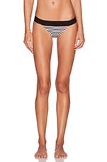 KAMALIKULTURE Banded Bikini Bottom in Black & Off White Stripe