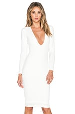 Bombshell V Neck Dress in Ivory