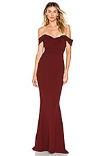 Nookie Camille Gown in Wine