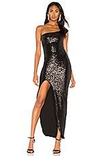 Nookie Spellbound One Shoulder Gown in Black
