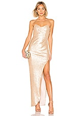 Nookie Adele Sequin Gown in Champagne