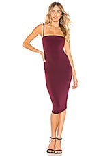 Nookie Charlize Midi Dress in Wine