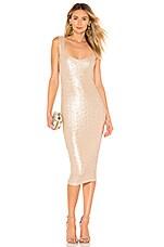 Nookie Smoulder Midi Dress in Champagne