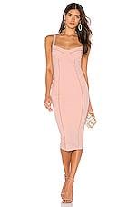 Nookie Chicago Midi Dress in Blush