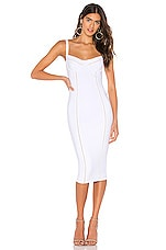 Nookie Chicago Midi Dress in White