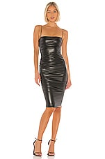 Nookie Posse Faux Leather Midi Dress in Black