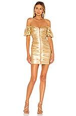 Nookie Zoe Mini Dress in Gold