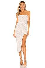 Nookie Eclipse Midi Dress in White