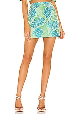 Nookie Solana Skirt in Mint & Blue
