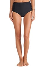 Beach Soleil High Waisted Briefs in Black