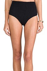 Beach Sugar Baby High Waisted Briefs in Black