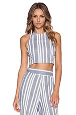 Nikki Reed for REVOLVE Marley Crop Top in Blue & White