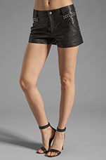 Cowgirl Leather Boom Boom Shorts in Black