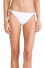 Ooh La La Eyelet Vamp String Bikini Bottoms in White
