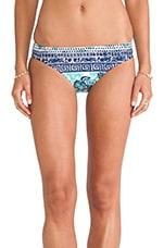 Batiki Print Charmer Bikini Bottom in Aqua