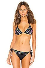 Nanette Lepore Vixen Bikini Top in Black