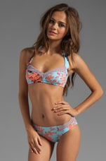 Tec-Porcelain Toile Stargazer Bikini Top in Blue Bell