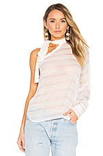 Stripe One Shoulder Top in Stripe