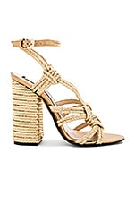 Woven Strappy Heel in Gold