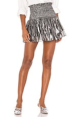 NONchalant Cecilia Mini Skirt in Silver