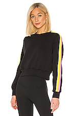 NO KA' OI Ike Long Sleeve Top in Black & Pink