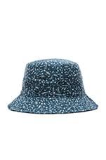 Reversible Discharge Bucket Hat in Indigo