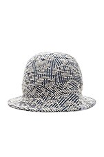 Bubble Weave Bucket Hat in Kit White