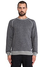 Vorm Loomed Flame Sweatshirt in Dark Navy