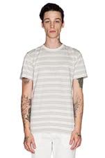 Niels Texture Stripe Tee in Kit White