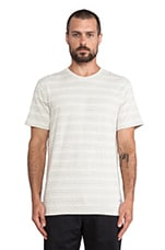 Niels Indigo Textured Stripe Tee in Kit White Melange