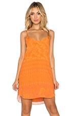 NOVELLA ROYALE Anita Mini Dress in Tangerine Hazely