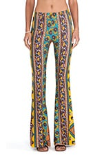 Janis Pant in Mustard Ethnic Floral