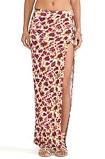 NOVELLA ROYALE Viva Maxi Skirt in Wine Rose