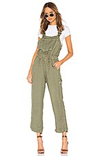 NSF Dahlia Cinched Waist Overall in Olive