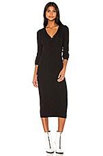 NSF Sarah Henley Dress in Black