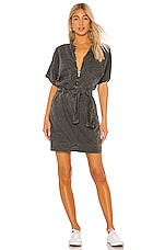 NSF Polly Zip Dress in Pigment Black